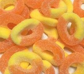 Moon Munchies Gummy Sour Peach Rings 4/5lb - Case - Moon Munchies