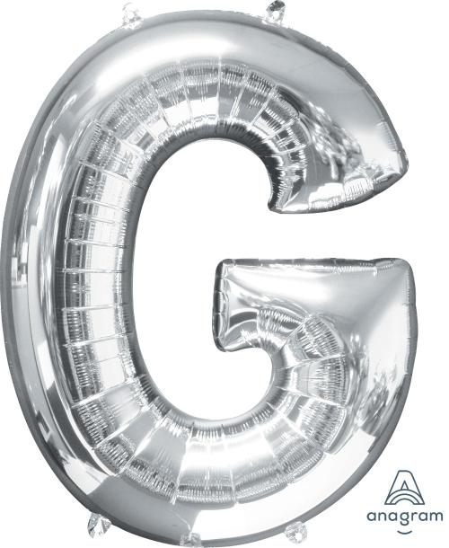 Supershape Silver Letter G Balloon - Anagram