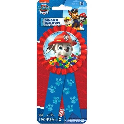 Paw Patrol Award Ribbon 1Pc - Amscan