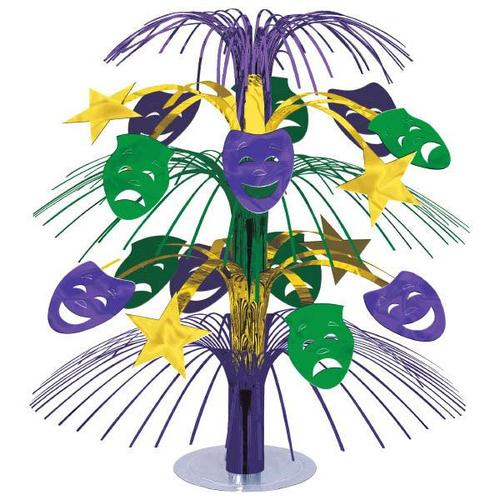 Mardi Gras Comedy/Tragedy Cascade Centerpiece - Amscan
