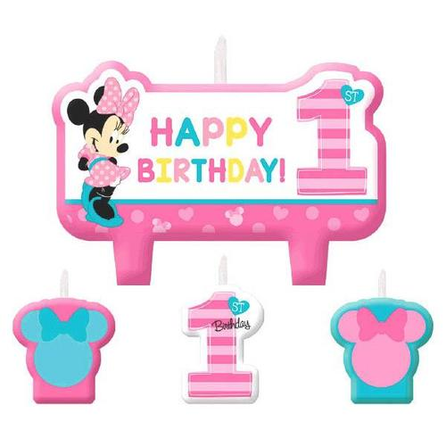 Minnie Fun2B1 Candle Set - Amscan