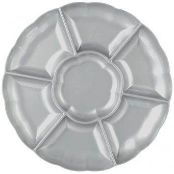 "16"" Plastic Compartment Tray Silver - Amscan"