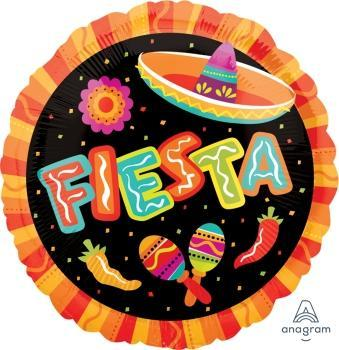 "17"" Fiesta More Fun Foil Balloon - Flat"