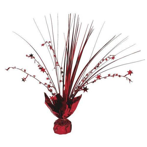 Apple Red Foil Spray Centerpiece - Amscan