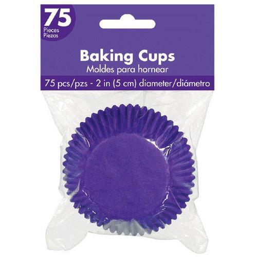 Cupcake Cases New Purple 75ct - Amscan