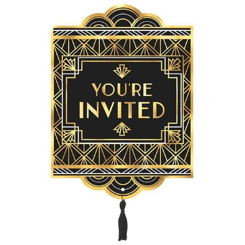 Glitz & Glam Jumbo Invitations 8ct - Amscan
