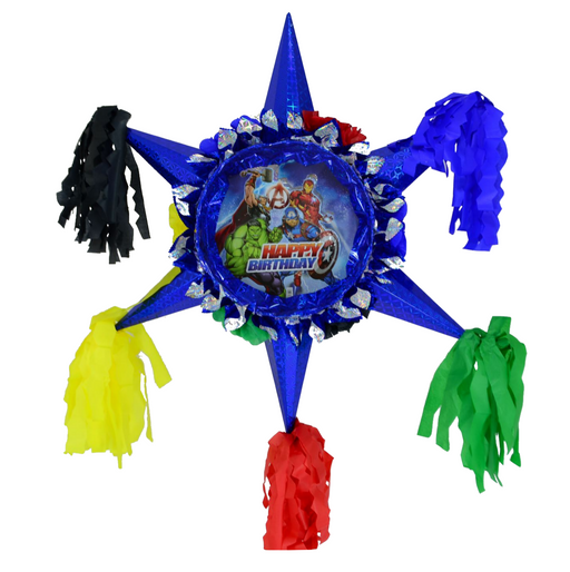3D Star Piñata Staple Free - Avengers - Piñata District