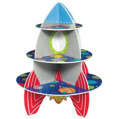 Blast Off Birthday Rocket Treat Stand - Amscan