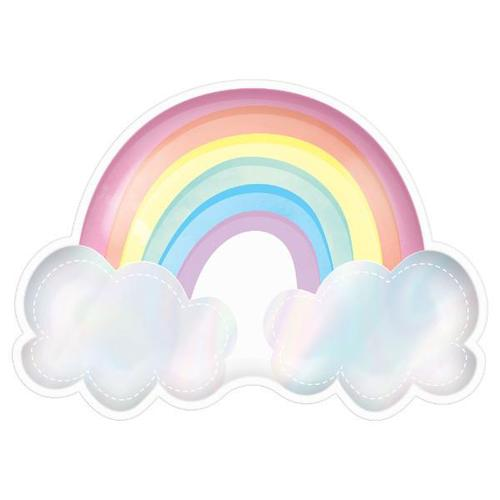 Magical Rainbow Shaped Iridescent Plates - Amscan