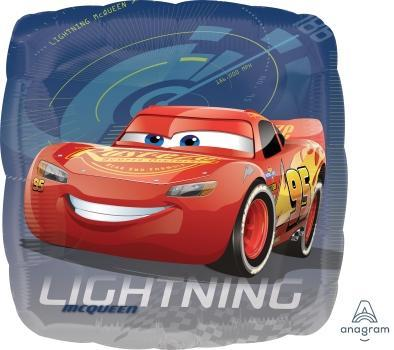 "17"" Cars Lightning Foil Balloon - Flat - Anagram"
