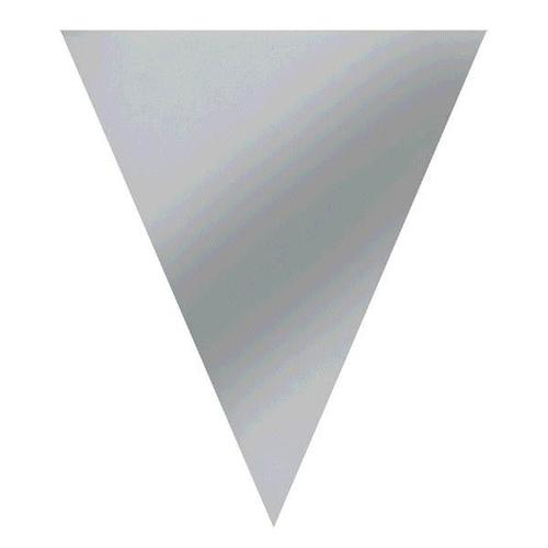Silver Paper Pennant Banner - Amscan