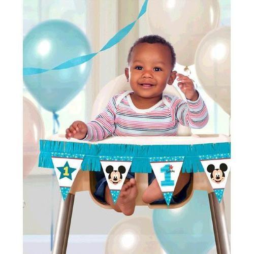 Mickey Fun To Be One High Chair Decorating Kit - Amscan