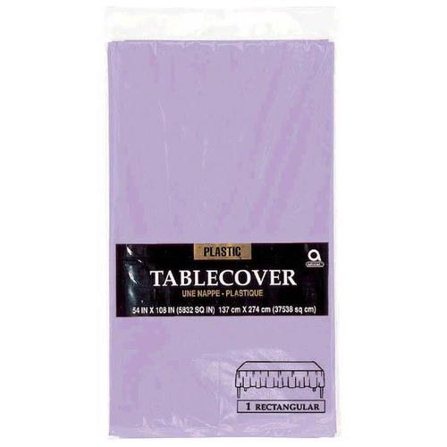 "Lavender 54""x108"" Plastic Table Cover - Amscan"