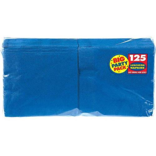 Bright Royal Blue Lunch Napkin 125ct - Amscan