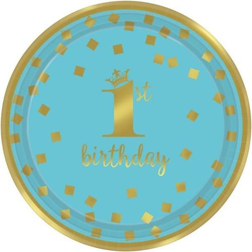 "1St Bday Blue 7"" Round Plate - Amscan"