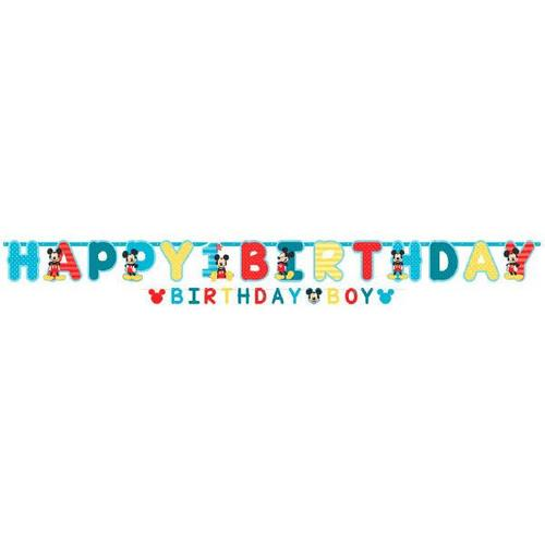 Mickey Fun To Be One Jumbo Birthday Banner - Amscan