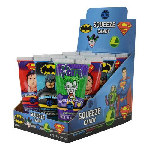 DC Comics™ Squeeze Candy 6/12 - Koko's Confectionery & Novelty