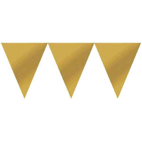 Gold Paper Pennant Banner