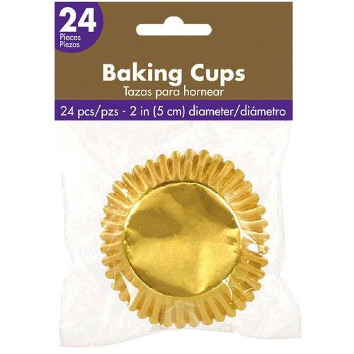 Cupcake Cases Metallic Gold 24ct - Amscan