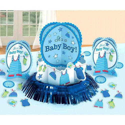 Shower Boy Table Decorating Kit - Amscan