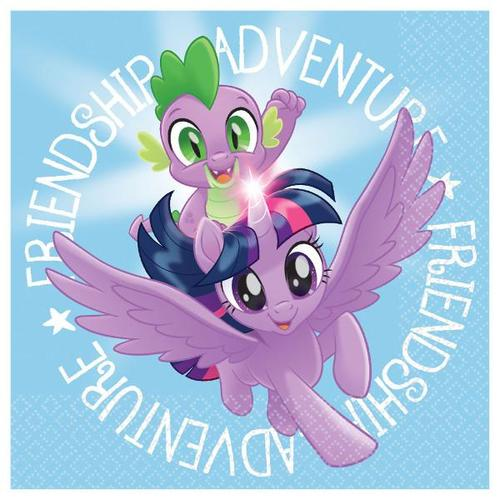 My Little Pony Friendship Adventures Beverage Napkin 16ct - Amscan