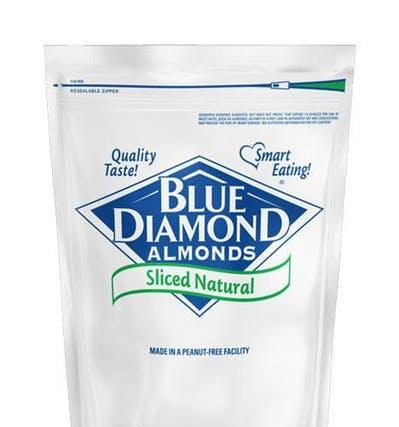 Almonds Raw Natural Sliced 5lb - Blue Diamonds Growers
