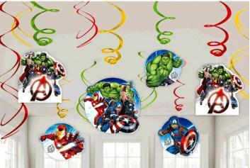 Avengers Epic Swirl Decorations - Amscan