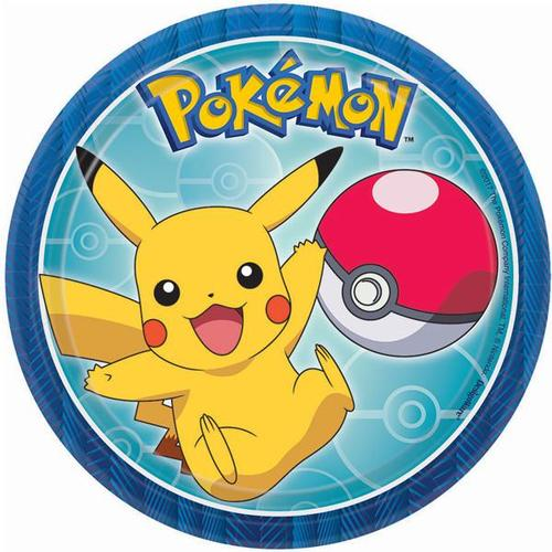 "Pokemon Core 7"" Round Plate"