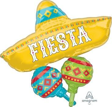 "Supershape Papel Picado Fiesta Cluster 32"" Balloon - Anagram"