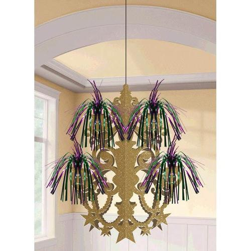 Mardi Gras Firework Chandelier Decoration - Amscan