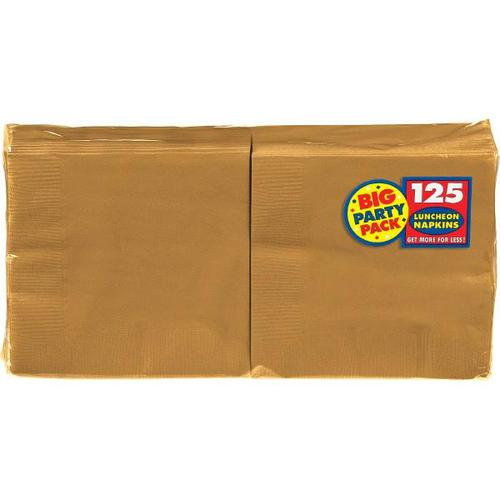 Gold Lunch Napkin 125ct - Amscan