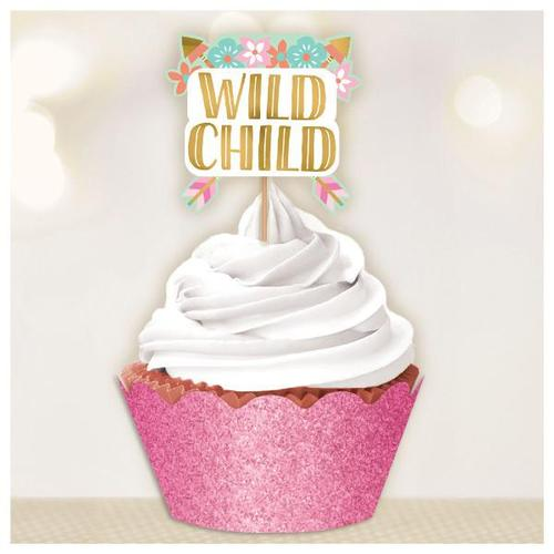 Boho Birthday Girl Cupcake Kit - Amscan