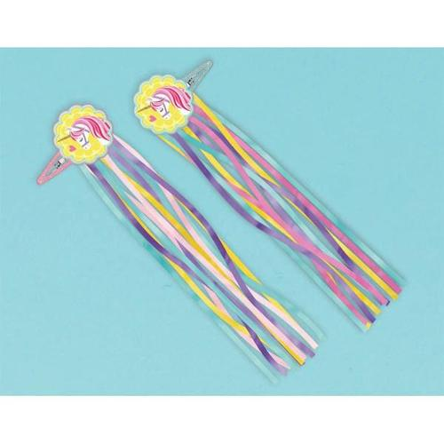 Magical Unicorn Hair Clips - Amscan