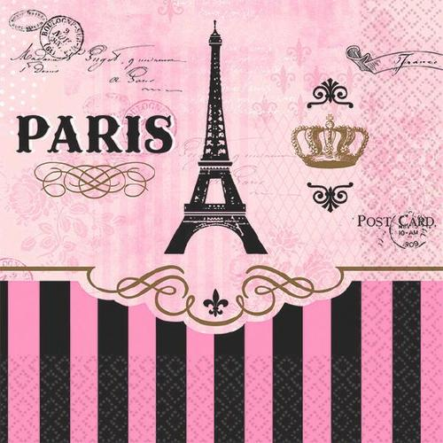 Day In Paris Beverage Napkin - Amscan