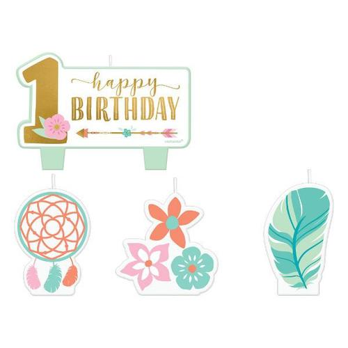 Boho Birthday Girl Birthday Candle Set - Amscan