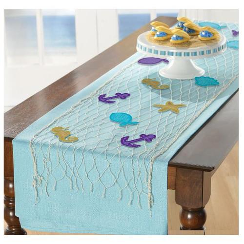 Mermaid Wishes Fish Net Decoration Kit - Amscan