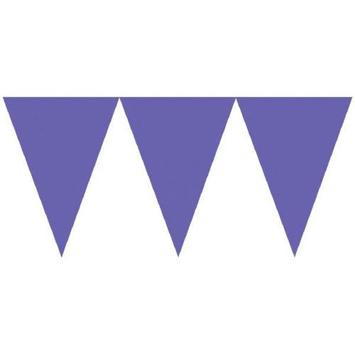 New Purple Paper Pennant Banner