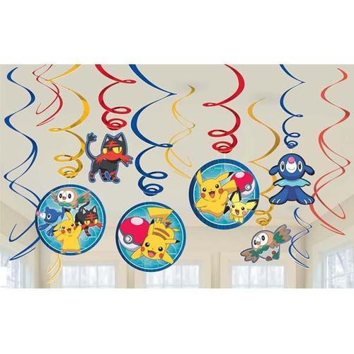 Pokemon Core Swirl Decorations - Amscan