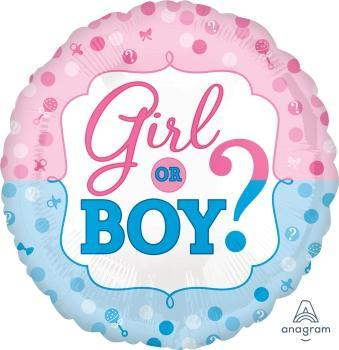 Gender Reveal Foil Balloon - Flat
