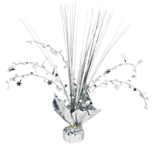 Silver Foil Spray Centerpiece - Amscan