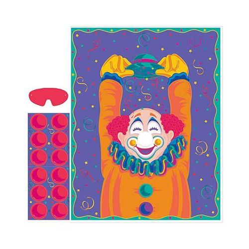 Clown Pin the Nose Party Game - Amscan
