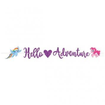My Little Pony Friendship Adventures Glitter Letter Banner - Amscan