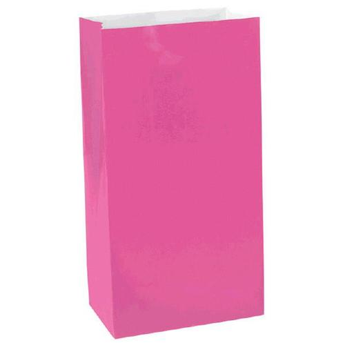 Bright Pink Mini Paper Bag - Amscan