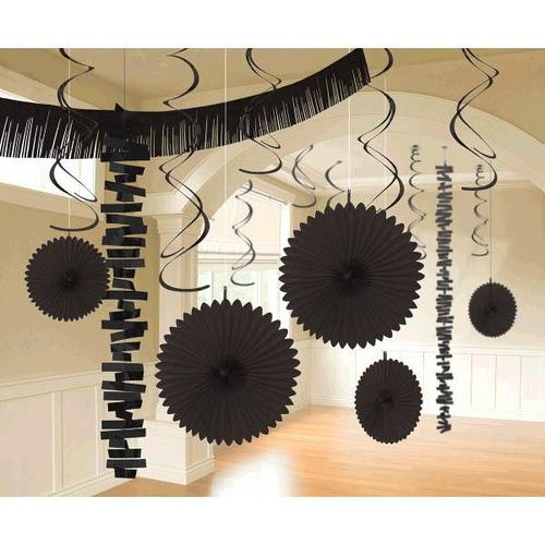 Jet Black Paper & Foil Decorating Kits 18ct - Amscan