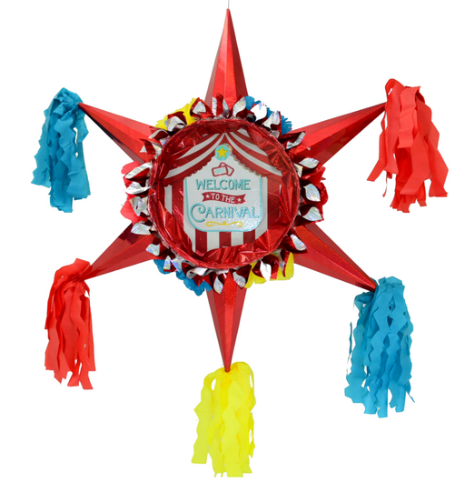 3D Star Piñata Staple Free - Circus Carnival - Piñata District