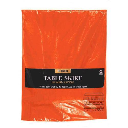 Orange Peel Plastic Table Skirt - Amscan