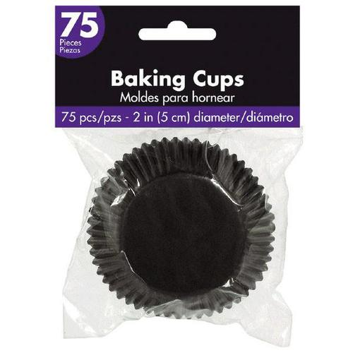 Cupcake Cases Black 75ct - Amscan