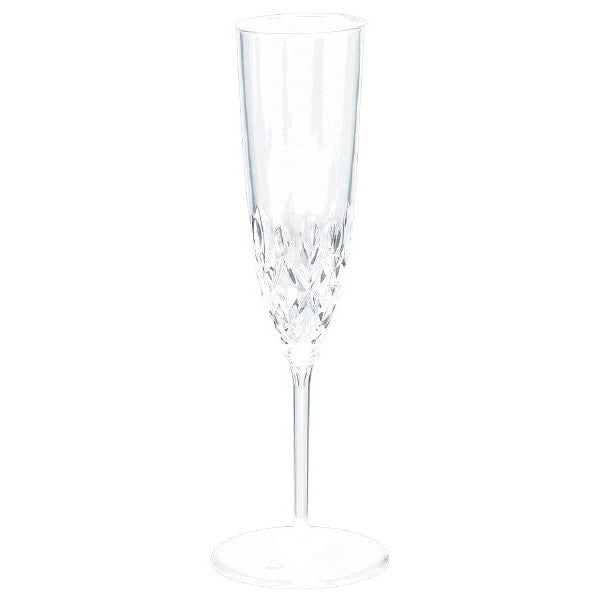 Champagne Crystal Look Flutes Clear 8ct
