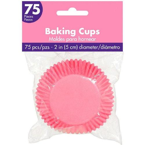 Cupcake Cases New Pink 75ct - Amscan