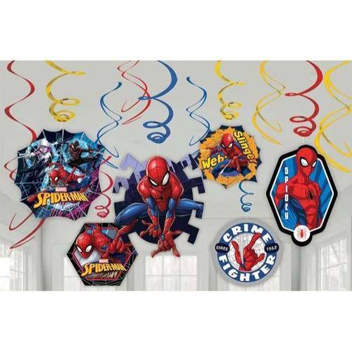 Spider Man Web Swirl Decorations - Amscan